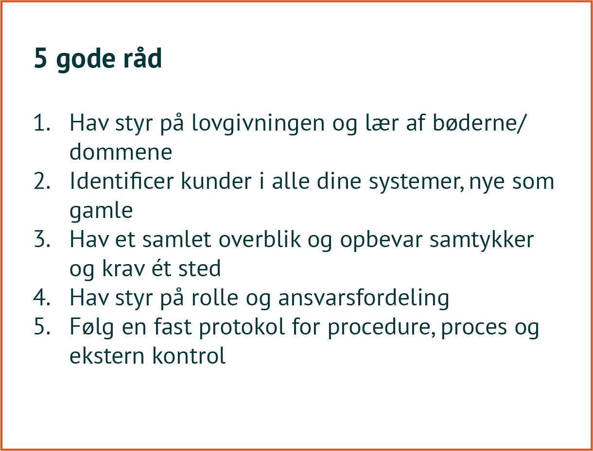 GDPR 5 gode råd